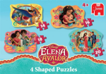 Disney ELENAN AVALOR 4 Shaped Jigsaw Puzzles - NEW